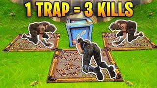 1 TRAP 3 KILLS! Epic Trap Trolling | Fortnite Best Stream Moments #2 (Battle Royale)