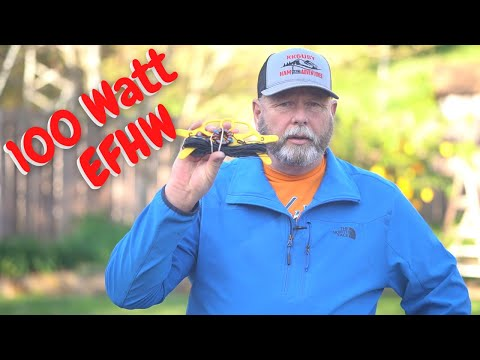 How to build a 100 watt EFHW for portable use!