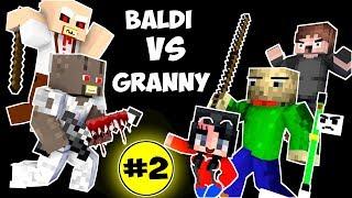 Monster School : BALDI'S BASICS VS GRANNY CHALLENGE PART 2 - Minecraft Animation Kids Mobs