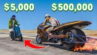 $5,000 Bike VS $500,000 Bike In GTA 5!