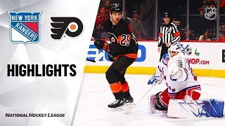 NHL Highlights | Rangers @ Flyers 12/23/19