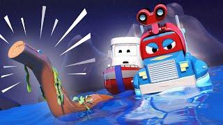 Video về xe tải dành cho thiếu nhi - Tàu ngầm - Siêu xe tải Carl 🚚⍟ những bộ phim hoạt hình về