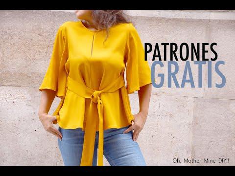 Patrones de costura: Blusa para mujer (gratis en varias tallas)