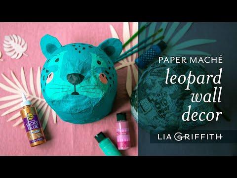 DIY Paper Mâché Leopard