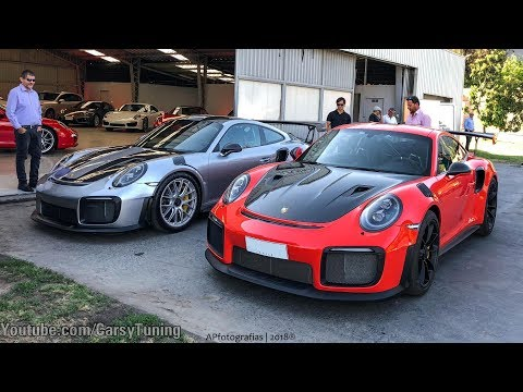 Porsche 991 GT2RS x3 Launch - Start Up, Revs, Accelerations and Flames!