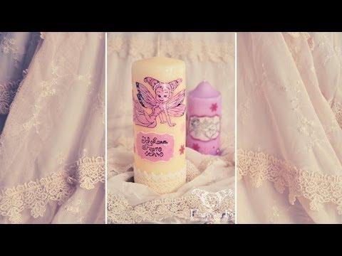 Kerzen verzieren mit Kerzenpen/Candle-Liner und Stempeln