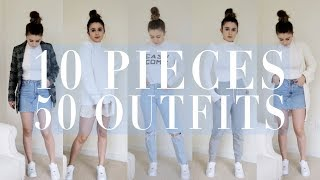 50+ Back to School OUTFITS using *10* CLOTHING IITEMS