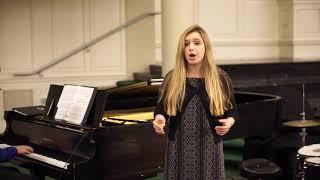 Bella Reynolds singing Ridente la calma by Mozart
