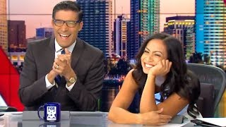 News Anchors Can't Stop Laughing At Chewbacca Sound
