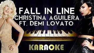 Christina Aguilera - Fall in Line (feat. Demi Lovato)   Piano Karaoke Instrumental Lyrics Cover
