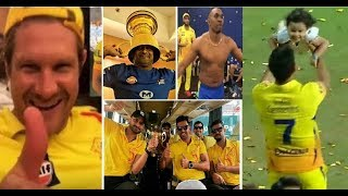 CSK celebrates IPL 2018 victory..