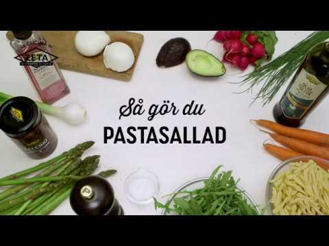 Pastasallad med sparris och buffelmozzarella
