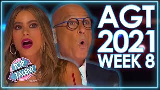 TOP 5 AMAZING Auditions On America's Got Talent 2021! | WEEK 8 | Top Talent