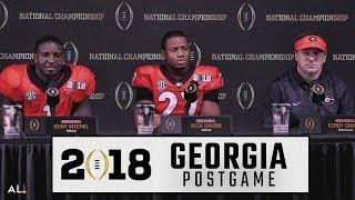 Kirby Smart, Nick Chubb, & Sony Michel address the media following Georgia's title game loss to Bama