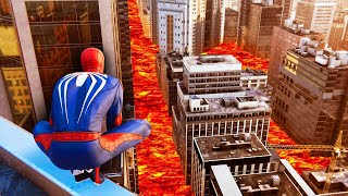 The FLOOR Is LAVA Challenge! (Spider-Man)