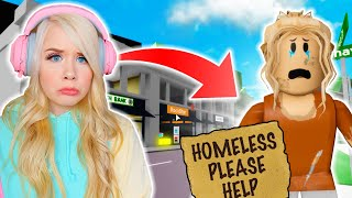 I WAS HOMELESS IN BROOKHAVEN! (ROBLOX BROOKHAVEN RP)