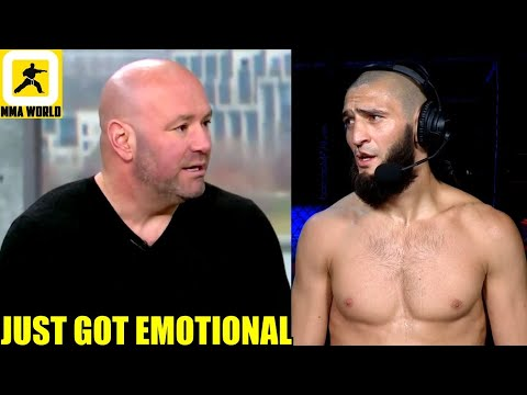 Dana White reacts to Khamzat Chimaev suddenly announcing his retirement from MMA,Blachowicz,UFC 259