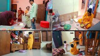 🌺ससुराल मे मनाये मेरा Birthday 1st Time🥳♥️घर पर चलरहाहे Laxmi  पुजा  की तयारी 🌹