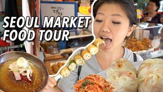 KOREAN STREET FOOD 🥟 LARGEST Traditional Market Food Tour in Seoul, South Korea   Namdaemun Market