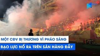 Xem CĐV Nam Định bắn pháo sáng, làm một người bị thương trong trận thua Hà Nội