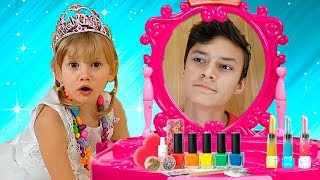 Alena and Pasha play the magic mirror Compilation by Chiko TV