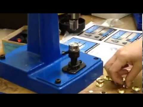 Micron M-3 Grommet Attaching machine with #3 Self-Piercing grommets & Plastic Washer Installation