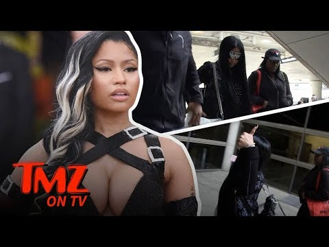 Nicki Minaj Finally Steps Out Of Hiding!!! | TMZ TV