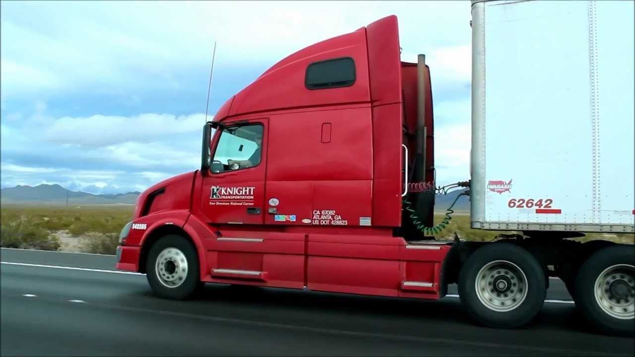 Knight Transportation Volvo Truck Driving To Las Vegas On