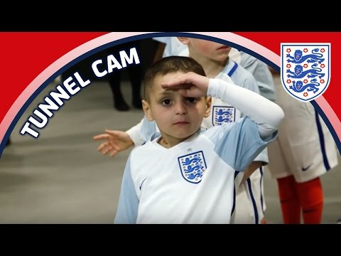 Tunnel Cam - Bradley Lowery & Jermain Defoe reunite - England v Lithuania | Inside Access