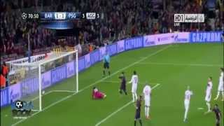 اهداف مباراة برشلونة وباريس سان جيرمان 1-1 ضمن مباريات اليوم في دوري ابطال اوروبا 2013