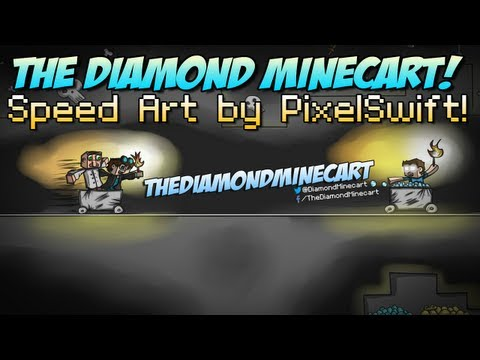TheDiamondMinecart Speed Art By PixelSwift   SEND ME YOUR FAN ART! - Smashpipe Games