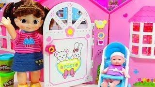 Mainan Boneka Anak Lucu Bermain Rumah Rumahan dan Masak Masakan Telur Kejutan Mell Chan