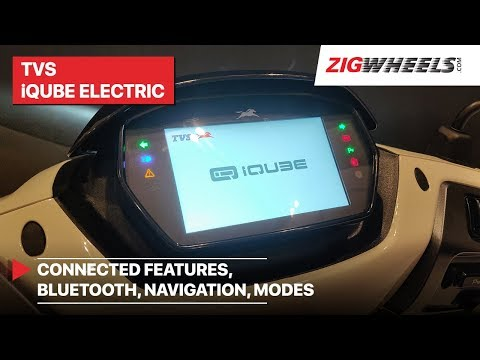 TVS iQube Electric Smartxonnect Screen Explained | Connected Features, Bluetooth, Navigation, Modes