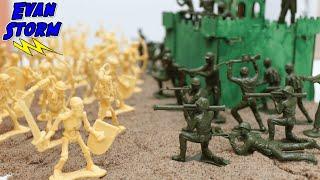 Plastic Army Men VS Skeleton Warriors Battle for High Ground