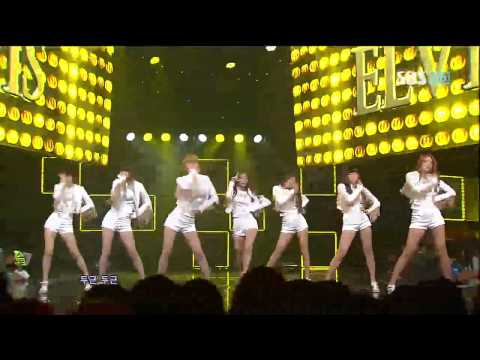 AOA [ELVIS] @SBS Inkigayo 인기가요 20120812