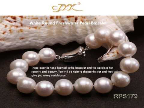 Freshwater Pearl Necklace and Earrings