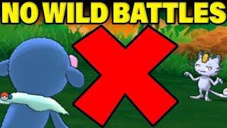 Can You BEAT Melemele Island Without ANY WILD POKEMON BATTLES? Pokemon Let's Go Locke