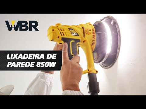 Lixadeira de Parede 850W Wbr - 220 V - Vídeo explicativo