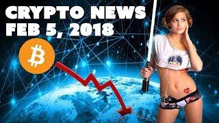 Crypto News - Feb 5 2018 - Bitcoin Crash Today and Price Prediction