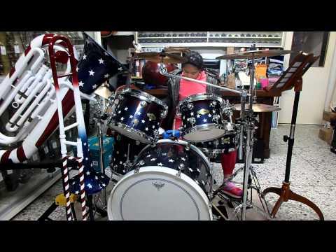 蘇靖玲 造飛機 兒歌 爵士鼓演奏 20131220