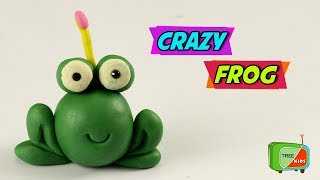 How to make a funny Play Doh Green Frog || Crazy Frog Learn For Kids || Tree Kids