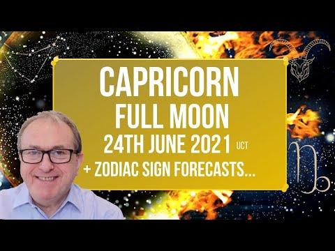 Capricorn Full Moon June 24th 2021 + Zodiac Sign Forecasts