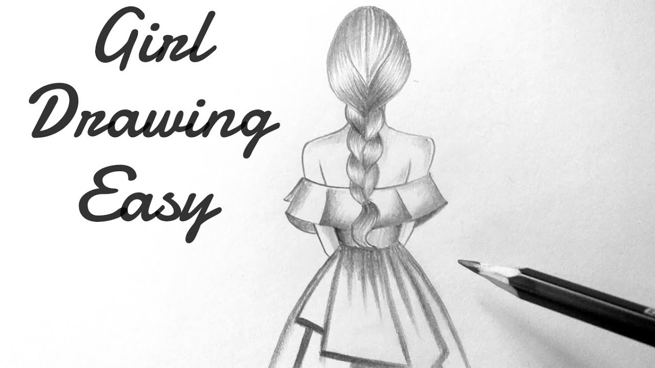 How To Draw A Girl Back View Step By Step