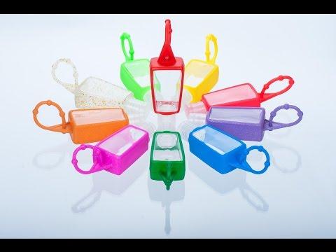 Rubber holder for small bottles