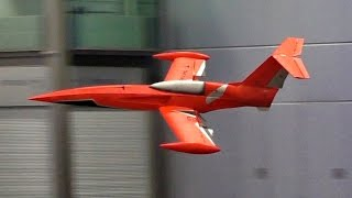WORLD´S FIRST BIG RC TURBINE MODEL JET FOR INDOOR FLIGHT / Leipzig Germany 2016