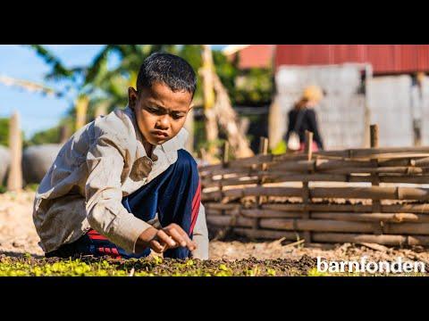 Så engagerar vi barn i klimatprojektet i Kambodja.