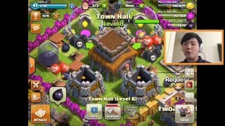 Clash of Clans Gameplay Ep.2-- The NEW Base Boyzzz!!