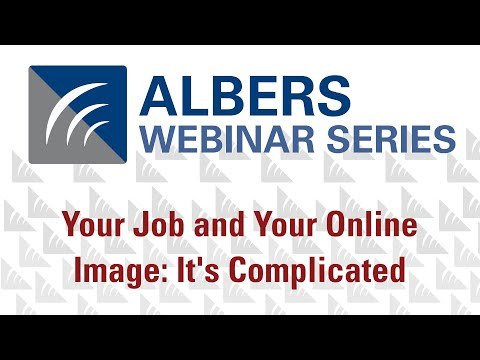 Your Job and Your Online Image: It's Complicated