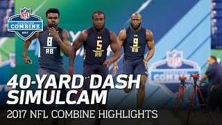 40-Yard Dash SimulCam Highlights: Ezekiel Elliott vs. Fournette vs. Cook & More   NFL
