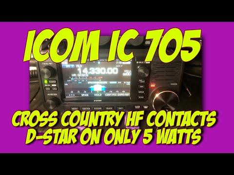 Icom IC 705 Chronicles- D Star on HF QRP| K6UDA Radio